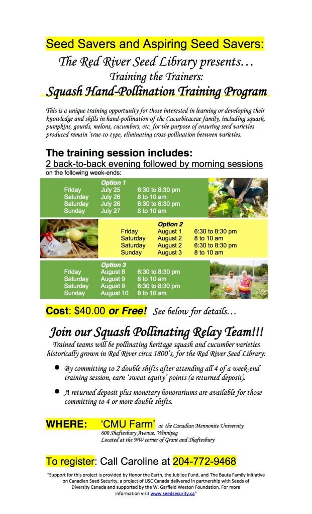 Squash pollination workshop poster