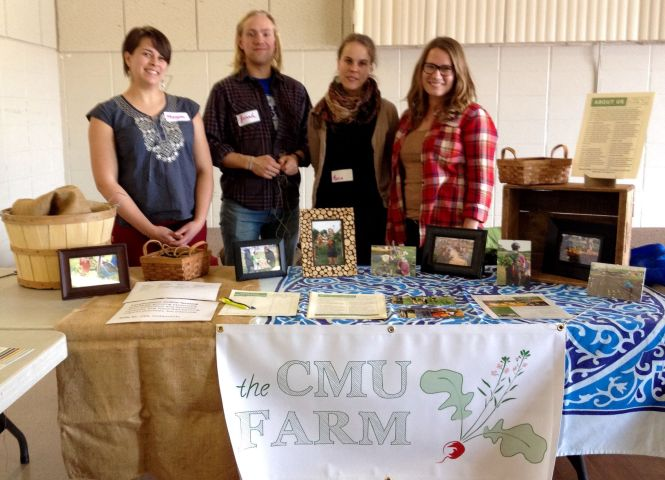 Megan, Jonah, Maria, Jeanette - the Metanoia Farmers - promoting the farm at an event this spring.